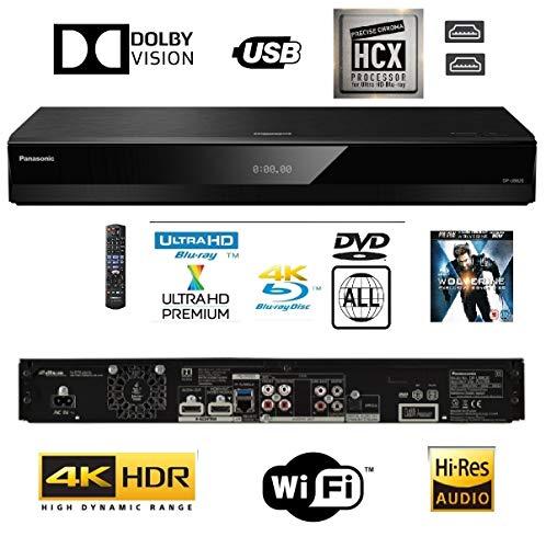 Panasonic dp-ub820ebk Smart 3D 4K UHD Upscaling Blu-ray/DVD (Multi Region) Player mit hoher Auflösung Audio, Ultra HD Premium Zertifiziert-WiFi-Twin HDMI/optischen Anschluss.