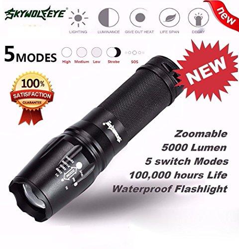 Internet 5000 Lumens G700 Tactical LED CREE XM-L T6 lampe de poche X800 Zoom Super Bright militaire de grade étanche titulaire Torche 5 Modes + porte-piles AAA