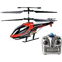 Helicóptero RC, Vatos Helicóptero de control remoto Indoor 3.5 canales Hobby Mini RC Flying Helicóptero 2 cuchillas Reemplazo incluido RC Plane Juguete de regalo para niños Resistencia al choque consi