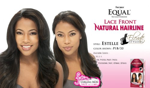 Equal Synthetic Lace Front Wig Style Estelle Color 1B