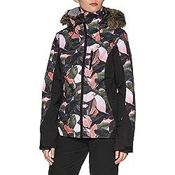 Roxy Jet Premium-Veste de Ski/Snowboard pour Femme, Living Coral Plumes, FR : M (Taille Fabricant : M)