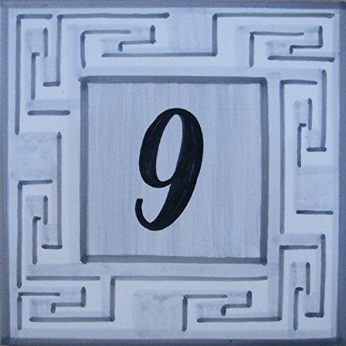 Straßenschild von Hand bemalt Fayencen - Wählen Sie Ihre Nummer!