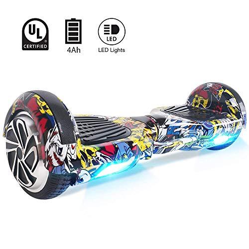 """BEBK Hover Board 6.5\"""" Smart Self Balance Scooter Elettrico Autobilanciato con LED, 2 * 250W Motore"""