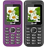 Hicell C5 (Combo Of Two MOBILES) Dual Sim Mobile Phone With Digital Camera And 1.8 Inch Screen (VoiletBlack+BlackRed)