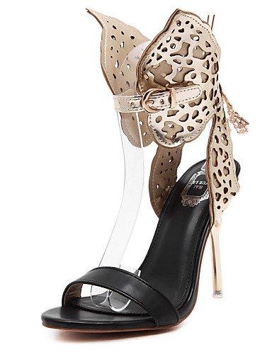 UWSZZ IL Sandali eleganti comfort Scarpe Donna-Sandali-Matrimonio / Ufficio e lavoro / Serata e festa / Formale-Tacchi / Aperta-A stiletto-Di pelle-Argento / Dorato Silver