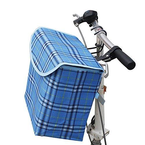 shayson pieghevole staccabile portatile Canva anteriore per manubrio bicicletta con telaio in lega di alluminio gancio rimovibile, perfetto per ragazze e Pet Carrier in alluminio telaio in lega, Blue