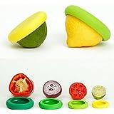 bwsm 4pcs silicona Stretch Lids para para cubrir todo tipo de Ollas, frutas y verduras protectora, los Restos del tazón protectora