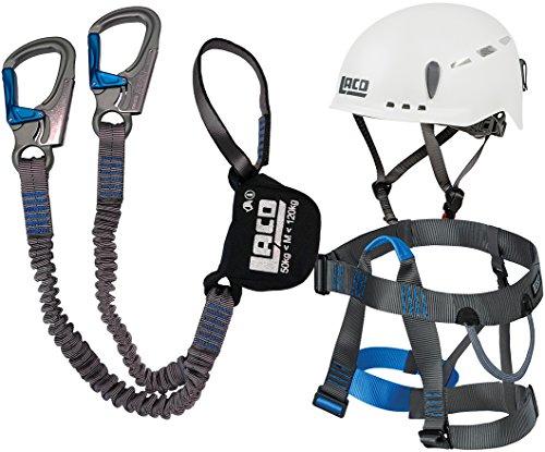 Klettersteigset LACD Pro Evo + Gurt Easy Ferrata 2.0 + Helm Protector 2.0