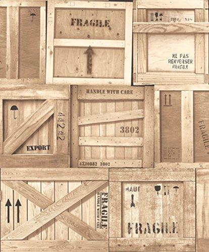 carta-da-parati-in-vinile-ugepa-pezzi-del-puzzle-di-legno-insieme-beige-j89907