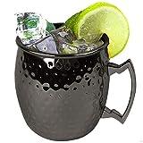 ZNYSTAR Neues Design Moscow Mule Kupfer Becher Trinkbecher Kupfer Tasse Mule Becher (Schwarz Kupferbeche Packung mit 1)