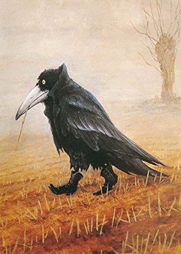 postkarte-a6-o-4718-krahe-von-inkognito-o-kunstler-rudi-hurzlmeier-o-satire-o-fantastik