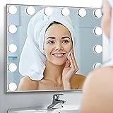 BEAUTME Espejo De Maquillaje Hollywood, Profesional Espejo de Tocador con Luz LED Táctil Inteligente Espejo...