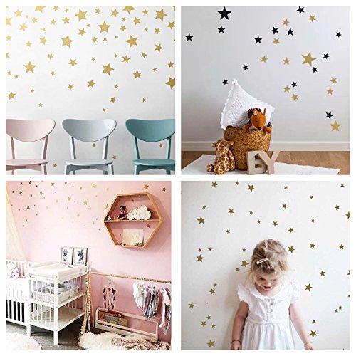 WandSticker4U®  Wandtattoo 60 Sterne Zum Kleben | Schwarz/ Silber/ Gold |  Wandsticker Sternenhimmel Wandbild Aufkleber Deko Für Babyzimmer  Kinderzimmer ...