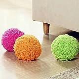 SomStyle (TM) 1 PC 4 colori innovativi Home Cuscinetti Aspirapolvere tasca della sfera automatica di dimensione in microfibra Floor Cleaner Pet cani divertenti Giocattoli Balls