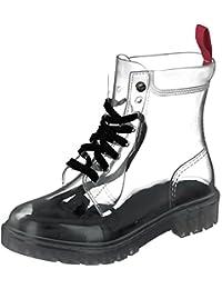 Details zu Overkneestiefel Damen Schuhe Transparent Boots Plus Size 34 48 Lange Stiefel PVC