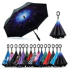 Jooayou Paraguas Invertido de Doble