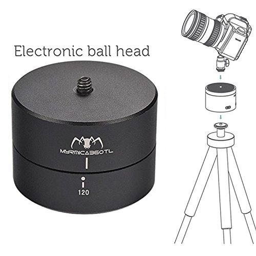 First2savvv XJPJ-ADJ60-01G6 Rotating Ball head Time Lapse 60 minuti panning rotazione cavalletto tempo adattatore stabilizzatore lasso treppiede per Telecamere, DSLR, GoPro di e smartphone + Mini trep XZZ120-01 + usb mini ventilatore
