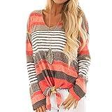 Dasongff Damen Langarmshirt Frauen Sweatshirt Streifen Lange Ärmel Mit Kapuze Pullover Gedruckt Sweatshirt Hoodie Oberteile Freizeit Hemden