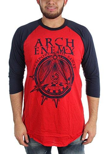 """Arch Enemy-simbolo uomo con maniche a 3/4 """" rosso Large"""