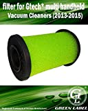 Filter for Gtech Multi Handheld Vacuum Cleaners (2013-2015). Washable and Reusable. Genuine Green Label Product