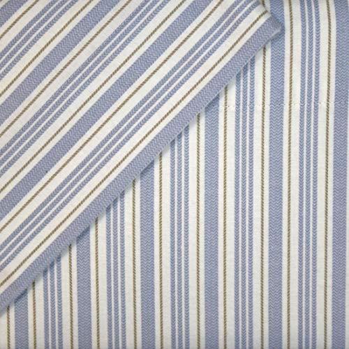Cuddl Duds Bettlaken-Set aus Flanell mit tiefen Taschen, Verschiedene Größen/Muster, 3-teilig Modern Queen blau gestreift (Flanell Sheet Set Queen)