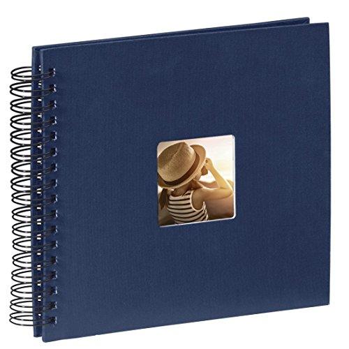 Preisvergleich Produktbild Hama Fotoalbum (28 x 24 cm, 50 schwarze Seiten, 25 Blatt, mit Ausschnitt für Bildeinschub) blau