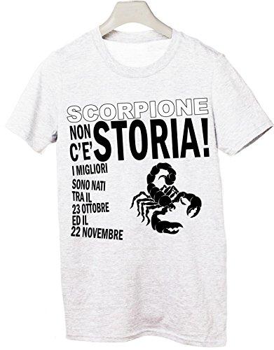 Tshirt compleanno segni zodiacali Scorpione non c'è storia i migliori sono nati tra il 23 ottobre ed il 22 novembre - Tutte le taglie Bianco