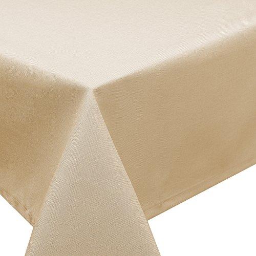 Tischdecke Fleckschutz Lotus Effekt Garten Leinenoptik abwaschbar in 27 Größen und 15 Farben in...