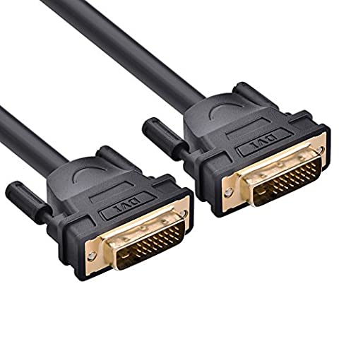 UGREEN DVI Cable, DVI-D 24+1 Male to Male Digital Video Cable Gold Plated with Ferrite (Risoluzione Tv Crt)