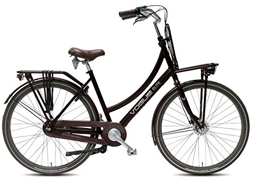 28 ZOLL Damen Hollandrad Nostalgie Fahrrad Alu Damen Vogue Elite Plus 7 gang Rollerbrake Matt Braun Rh:50cm