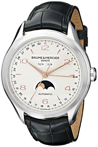 Baume & Mercier Herren bmmoa10055Clifton Edelstahl Uhr mit Schwarz Band von Baume & Mercier