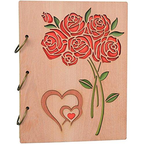 Petaflop album di foto 13x18 amore cuore album in legno 120 tasche