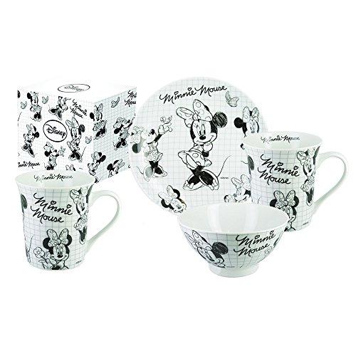 car-collection-bomboniere-q053300-walt-disney-minnie-sketch-set-3-piezas-porcelana-color-blanco-y-ne