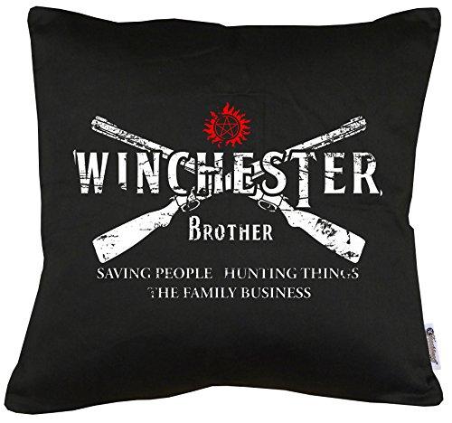 TLM Winchester Bros 2 Guns Kissen mit Füllung 40x40cm (Hammer Bros Halloween Kostüm)