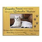 """Schmerzlicher Verlust einer Katze Bilderrahmen, tolles solides Holz, """"Verspielter Freund, niemals vergessen"""" und """"Sehr vermisster, liebevoller Begleiter"""" Verlust einer Katze, In Erinnerung an das Haustier, Bilderrahmen zum schmerzlichen Verlust einer Katze. Katze Gedenkstätte."""