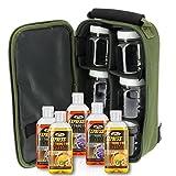 NGT Carp Fishing Tackle Glug Bag with 5 x 50ml Liquids & 6 Glug Pots Set