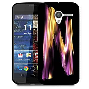 Snoogg Flaming 3D Letter Designer Protective Phone Back Case Cover For Moto X / Motorola X