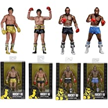 NECA Rocky III 40th Anniversary: Rocky Balboa and Clubber Lang 7-Inch Action Figures Set of 4 by NECA