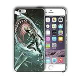 Superhéroe para iphone 5y 5S carcasa rígida se (Aqua)