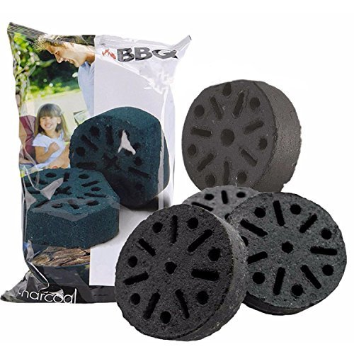 4 pcs Charcoal Briquettes Barbecue Bricks Long Lasting BBQ Grill Stone Accessory