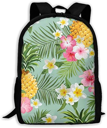 Travel Backpack Backpack Backpack Briease Floral Pineapple For Adult | Moda Attraente