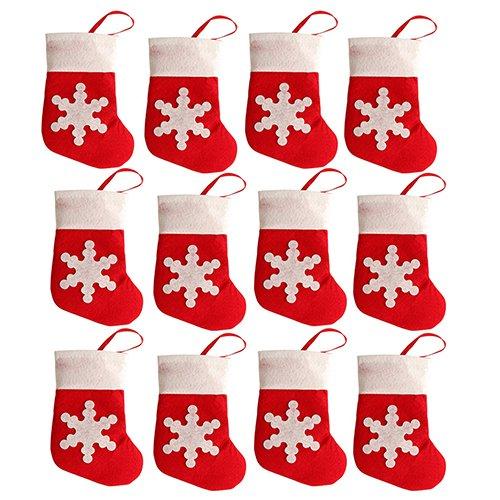 Display0812pcs/set babbo natale calze snowflake candy custodia posate bag christmas decor multi