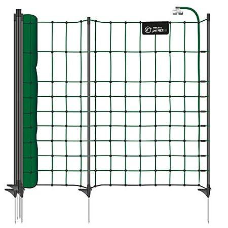 VOSS.PET Premium-Netz 12m 65cm petNET® Elektronetz Elektrozaun Gartenzaun Hobbyzaun tannengrün