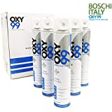 OXY99 Portable Oxygen Cylinder - 6 Pack (36 Liter)