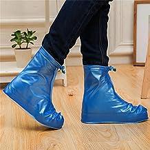 Whose Lemon Women Men Waterproof Shoes Cover Rain Snow Boots Covers Reusable Slip-resistant High Elastic Fabric Shoes Covers Blue XL by Whose Lemon