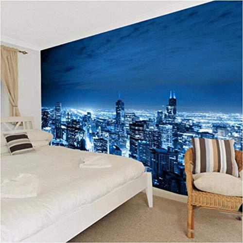 Benutzerdefinierte jeder Größe 3D Wallpaper Modernes Design Stadt Nacht Schlafzimmer Wohnzimmer TV Sofa Hintergrund 3D Foto Wallpaper Home Decoration