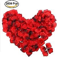 Newland Rosenblätter Rosenblüten für Hochzeit Party und Romantische Atmosphäre (Rose Rot)