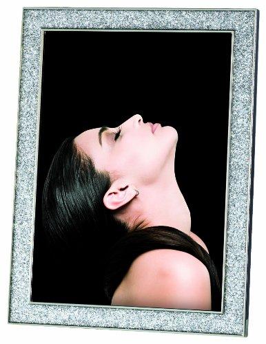 Mascagni casa portafoto formato 20x25 glitterato cornice classica regalo 526, metallo, multicolore
