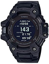 Casio G-shock Black Smartwatch G-squad Series for Men with Heart Rate Monitor + Gps Function + Solar Powered - GBD-H1000