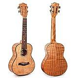 Kmise Concert Ukulele Tiger Flame Okoume Ukelele Ukele Uke 23 inch 4 String
